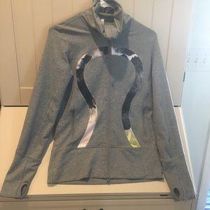 Lululemon Full Zip Grey Sweatshirt